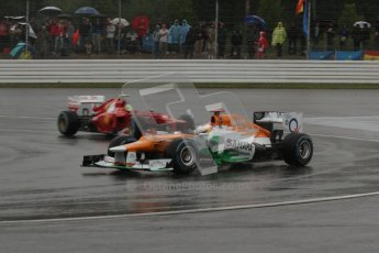 © 2012 Octane Photographic Ltd. German GP Hockenheim - Saturday 21st July 2012 - F1 Qualifying. Force India VJM05 - Paul di Resta and the Ferrari F2012 - Felipe Massa. Digital Ref : 0417lw7d8063