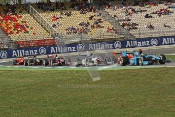 © 2012 Octane Photographic Ltd. German GP Hockenheim - Saturday 21st July 2012 - GP2 Race 1 - The pack fight it out. Digital Ref : 0419lw7d8186