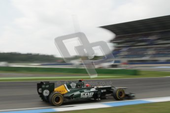 © 2012 Octane Photographic Ltd. German GP Hockenheim - Saturday 21st July 2012 - F1 Practice 3. Caterham CT01 - Heikki Kovalainen. Digital Ref : 0416lw7d7616