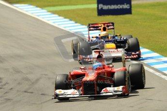 © 2012 Octane Photographic Ltd. German GP Hockenheim - Sunday 22nd July 2012 - F1 Race. Ferrari F2012 - Fernando Alonso and Red Bull RB8 - Sebastian Vettel. Digital Ref : 0423lw1d4933