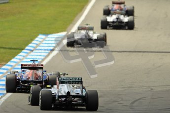 © 2012 Octane Photographic Ltd. German GP Hockenheim - Sunday 22nd July 2012 - F1 Race. Toro Rosso STR7 - Jean-Eric Vergne and Mercedes W03 - Nico Rosberg. Digital Ref : 0423lw1d5043