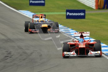 © 2012 Octane Photographic Ltd. German GP Hockenheim - Sunday 22nd July 2012 - F1 Race. Ferrari F2012 - Fernando Alonso and Red Bull RB8 - Sebastian Vettel. Digital Ref : 0423lw1d5174
