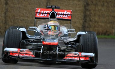 © 2012 Octane Photographic Ltd/ Carl Jones. Lewis Hamilton, McLaren MP4-26, Goodwood Festival of Speed. Digital Ref: 0388CJ7D6231