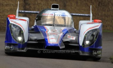 © 2012 Octane Photographic Ltd/ Carl Jones. Toyota TS030, Goodwood Festival of Speed. Digital Ref: 0388CJ7D6261