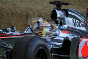 © 2012 Octane Photographic Ltd/ Carl Jones. Lewis Hamilton, McLaren MP4-26, Goodwood Festival of Speed. Digital Ref: 0388cj7d6432