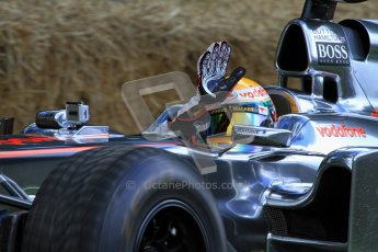 © 2012 Octane Photographic Ltd/ Carl Jones. Lewis Hamilton, McLaren MP4-26, Goodwood Festival of Speed. Digital Ref: 0388cj7d6434