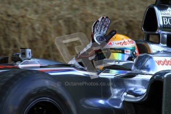 © 2012 Octane Photographic Ltd/ Carl Jones. Lewis Hamilton, McLaren MP4-26, Goodwood Festival of Speed. Digital Ref: 0388cj7d6436