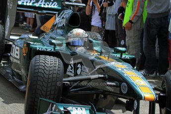 © 2012 Octane Photographic Ltd/ Carl Jones. Caterham F1 Car, Goodwood Festival of Speed. Digital Ref: 0388cj7d6629