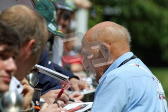 © 2012 Octane Photographic Ltd/ Carl Jones. Sir Stirling Moss, Goodwood Festival of Speed. Digital Ref: 0388cj7d6646