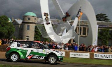 © 2012 Octane Photographic Ltd/ Carl Jones. Skoda Fabia IRC, Goodwood Festival of Speed. Digital Ref: 0389cj7d7046