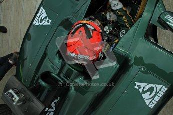 © 2012 Octane Photographic Ltd/ Carl Jones.  Heikki Kovalainen, Caterham T127, Goodwood Festival of Speed. Digital Ref: 0389cj7d7561