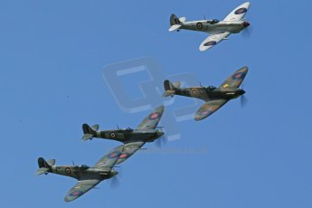 World © 2012 Octane Photographic Ltd. Goodwood Revival. September 15th 2012. Spitfire formation. Digital Ref : 0521cb1d9607