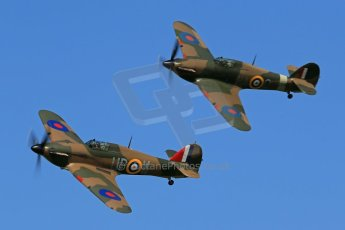 World © 2012 Octane Photographic Ltd. Goodwood Revival. September 15th 2012. Hurricane formation. Digital Ref : 0521cb1d9770