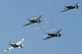 World © 2012 Octane Photographic Ltd. Goodwood Revival. September 15th 2012. Spitfire formation. Digital Ref : 0521cb1d9775