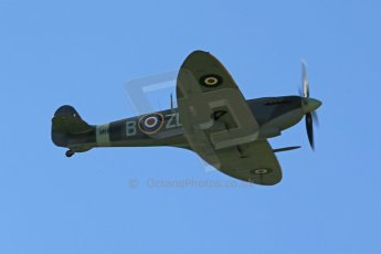 World © 2012 Octane Photographic Ltd. Goodwood Revival. September 15th 2012. Spitfire flyby. Digital Ref : 0521cb1d9803