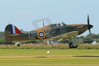 © 2012 Octane Photographic Ltd. Goodwood Revival. September 15th 2012. Hurricane landing. Digital Ref : 0521cb1d9918