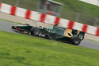 © Octane Photographic Ltd. GP2 Autumn Test – Circuit de Catalunya – Barcelona. Tuesday 30th October 2012 Afternoon session - Caterham Racing - Lucas Foresti. Digital Ref : 0552cb1d6729