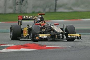 © Octane Photographic Ltd. GP2 Autumn Test – Circuit de Catalunya – Barcelona. Tuesday 30th October 2012 Afternoon session - Lotus GP - Daniel Abt. Digital Ref : 0552cb1d7129
