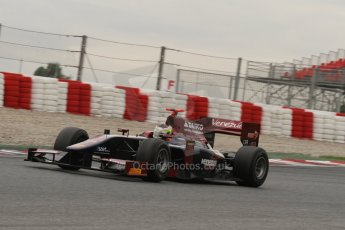© Octane Photographic Ltd. GP2 Autumn Test – Circuit de Catalunya – Barcelona. Tuesday 30th October 2012 Afternoon sessionVenezuela GP Lazarus - Rene Binder. Digital Ref : 0552lw7d0518