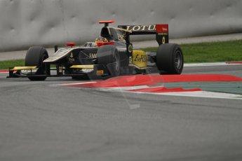 © Octane Photographic Ltd. GP2 Autumn Test – Circuit de Catalunya – Barcelona. Tuesday 30th October 2012 Afternoon session - Lotus GP - Daniel Abt. Digital Ref : 0552lw7d0959