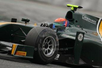 © Octane Photographic Ltd. GP2 Autumn Test – Circuit de Catalunya – Barcelona. Tuesday 30th October 2012 Afternoon session - Caterham Racing - Alexander Rossi. Digital Ref : 0552lw7d1085