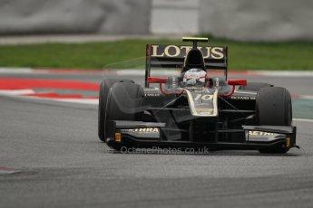 © Octane Photographic Ltd. GP2 Autumn Test – Circuit de Catalunya – Barcelona. Tuesday 30th October 2012 Afternoon session - Lotus GP - Stéphane Richelmi. Digital Ref : 0552lw7d1260