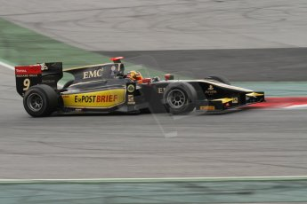 © Octane Photographic Ltd. GP2 Autumn Test – Circuit de Catalunya – Barcelona. Tuesday 30th October 2012 Morning session - Lotus GP - Daniel Abt. Digital Ref : 0551lw7d0102