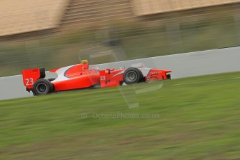 © Octane Photographic Ltd. GP2 Autumn Test – Circuit de Catalunya – Barcelona. Tuesday 30th October 2012 Morning session - Arden International - Mitch Evans. Digital Ref : 0551lw7d0404