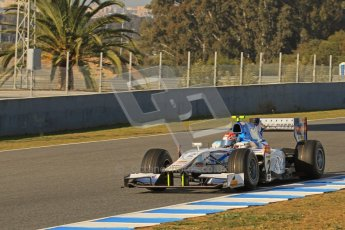 © Octane Photographic Ltd. GP2 Winter testing Jerez Day 1, Tuesday 28th February 2012. Barwa Addax Team, Josef Kral. Digital ref: