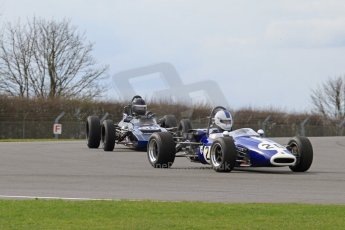 © Octane Photographic Ltd. HSCC Donington Park 17th March 2012. Classic Racing Cars. Mike Freeman - Brabham BT14. Digital ref : 0244lw7d7366