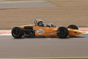 © Octane Photographic Ltd. HSCC Donington Park 17th March 2012. Classic Racing Cars. Ian Jones - Lotus 59. Digital ref : 0244lw7d7552