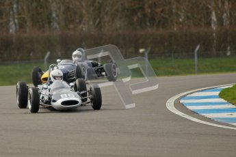 © Octane Photographic Ltd. HSCC Donington Park 17th March 2012. Historic Formula Junior Championship (Rear engine).. Steve Jones - Cooper T67. Digital ref : 0243cb1d7367