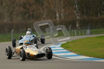 © Octane Photographic Ltd. HSCC Donington Park 17th March 2012. Historic Formula Junior Championship (Rear engine).. Simon Diffey - Lotus 20. Digital ref : 0243cb1d7382