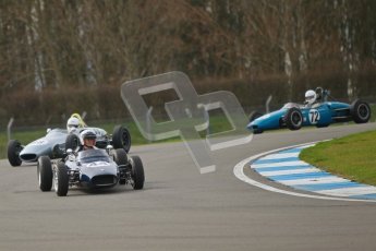 © Octane Photographic Ltd. HSCC Donington Park 17th March 2012. Historic Formula Junior Championship (Rear engine).. Andrew Robertson - Crossle 4F. Digital ref : 0243cb1d7396