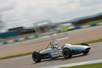 © Octane Photographic Ltd. HSCC Donington Park 17th March 2012. Historic Formula Junior Championship (Rear engine).. Jonathon Hughes - Brabham BT6. Digital ref : 0243cb1d7447