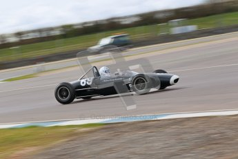 © Octane Photographic Ltd. HSCC Donington Park 17th March 2012. Historic Formula Junior Championship (Rear engine).. Andrew Turvey - Lola Mk5A. Digital ref : 0243cb1d7480