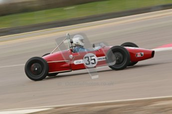 © Octane Photographic Ltd. HSCC Donington Park 17th March 2012. Historic Formula Junior Championship (Rear engine).. Charles Cook - Envoy. Digital ref : 0243cb1d7482