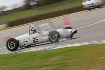 © Octane Photographic Ltd. HSCC Donington Park 17th March 2012. Historic Formula Junior Championship (Rear engine).. John Chisholm - Gemini Mk 3A. Digital ref : 0243cb1d7510