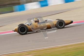 © Octane Photographic Ltd. HSCC Donington Park 17th March 2012. Historic Formula Junior Championship (Rear engine).. Simon Diffey - Lotus 20. Digital ref : 0243cb1d7584