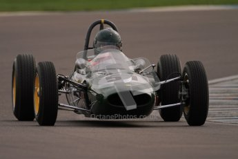 © Octane Photographic Ltd. HSCC Donington Park 17th March 2012. Historic Formula Junior Championship (Rear engine).. Michael Hibberd - Lotus 27. Digital ref : 0243cb7d4588