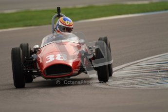 © Octane Photographic Ltd. HSCC Donington Park 17th March 2012. Historic Formula Junior Championship (Rear engine).. Pierre Guichard - Faccioli. Digital ref : 0243cb7d4663