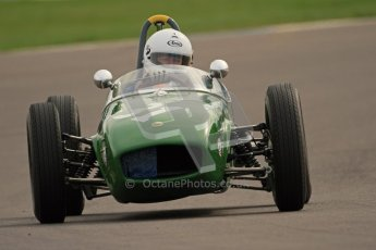 © Octane Photographic Ltd. HSCC Donington Park 17th March 2012. Historic Formula Junior Championship (Rear engine).. Robert Barrie - Lotus 18. Digital ref : 0243cb7d4679