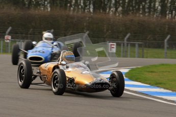 © Octane Photographic Ltd. HSCC Donington Park 17th March 2012. Historic Formula Junior Championship (Rear engine).. Digital ref : 0243lw7d6451