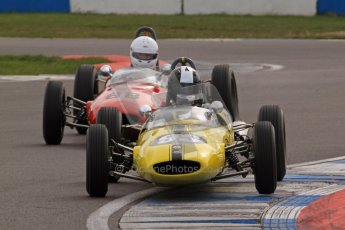 © Octane Photographic Ltd. HSCC Donington Park 17th March 2012. Historic Formula Junior Championship (Rear engine).. Rudolf Ernst - Lotus 22. Digital ref : 0243lw7d6624