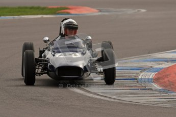 © Octane Photographic Ltd. HSCC Donington Park 17th March 2012. Historic Formula Junior Championship (Rear engine).. Andrew Robertson - Crossle 4F. Digital ref : 0243lw7d6674