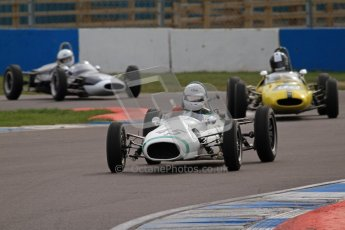 © Octane Photographic Ltd. HSCC Donington Park 17th March 2012. Historic Formula Junior Championship (Rear engine).. Peter Mullen - Kieft. Digital ref : 0243lw7d6695