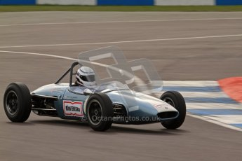 © Octane Photographic Ltd. HSCC Donington Park 17th March 2012. Historic Formula Junior Championship (Rear engine).. Jonathon Hughes - Brabham BT6. Digital ref : 0243lw7d7022