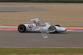 © Octane Photographic Ltd. HSCC Donington Park 17th March 2012. Historic Formula Junior Championship (Rear engine).. Mark Woodhouse - Lotus 20/22. Digital ref : 0243lw7d7077