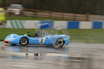 © Octane Photographic Ltd. HSCC Donington Park 18th May 2012. Guards Trophy for Sport Racing Cars. Stuart Tizzard & George Tizzard - Lenham Spider.  Digital ref : 0247lw7d9191