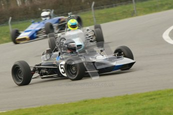 © Octane Photographic Ltd. HSCC Donington Park 17th March 2012. Historic Formula Ford Championship. Roger Arnold - Merlyn Mk20. Digital ref : 0240cb1d6619